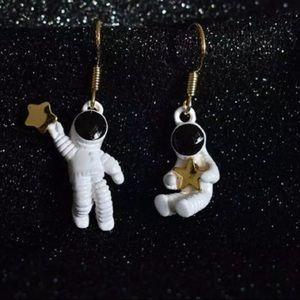 Astronaut earrings dangle small new jewelry